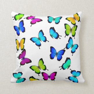Colorful Jungle Butterflies Pillow