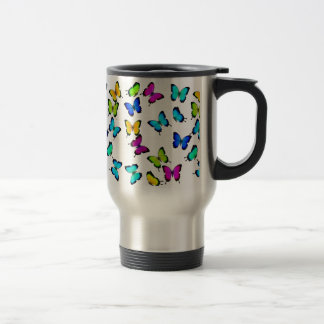 Colorful Jungle Butterflies Travel Mug