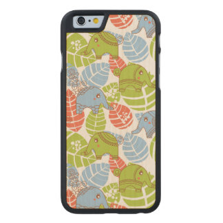 Colorful Jungle Elephants Carved® Maple iPhone 6 Case