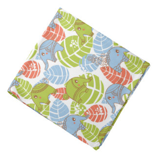 Colorful Jungle Elephants Head Kerchief