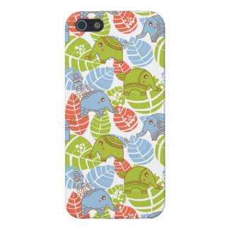 Colorful Jungle Elephants iPhone 5/5S Cases