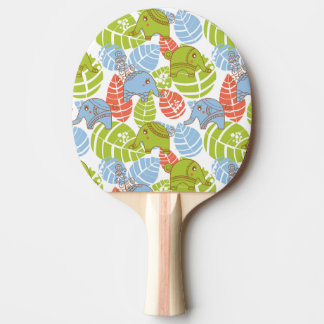 Colorful Jungle Elephants Ping-Pong Paddle