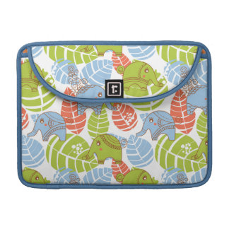 Colorful Jungle Elephants Sleeve For MacBooks