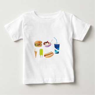 Colorful junk food design baby T-Shirt
