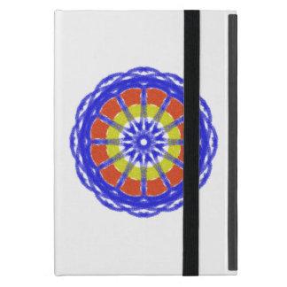 Colorful kaleidoscope circle pattern case for iPad mini