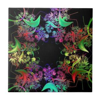 Colorful Kaleidoscope Design Fractal Art Gifts Tile