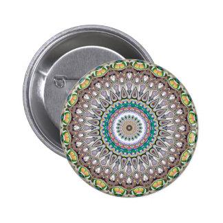 Colorful Kaleidoscope Mandala 2 Inch Round Button