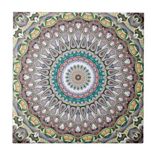Colorful Kaleidoscope Mandala Ceramic Tiles