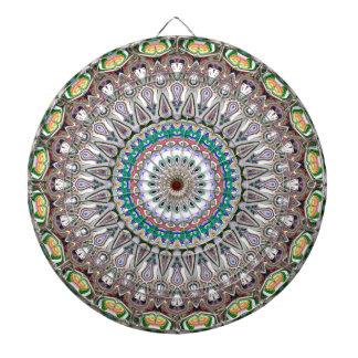 Colorful Kaleidoscope Mandala Dartboard