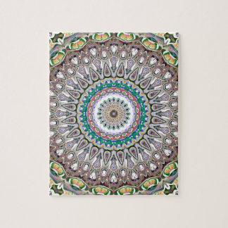 Colorful Kaleidoscope Mandala Jigsaw Puzzle