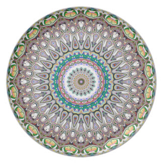 Colorful Kaleidoscope Mandala Plate