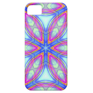 Colorful kaleidoscope pattern blue & pink iPhone 5 cases