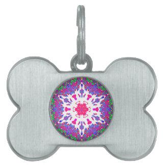 Colorful Kaleidoscope Pattern: Pet ID Tags