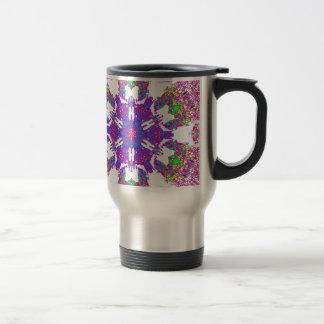 Colorful Kaleidoscope Pattern: Travel Mug