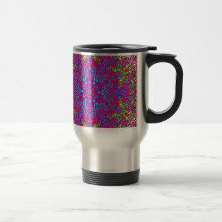 Colorful Kaleidoscope Pattern Travel Mug