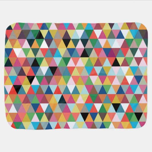 Colorful Kaleidoscope Patterned Baby Blanket
