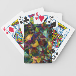 Colorful, Kaleidoscopic Abstract Art Bicycle Playing Cards