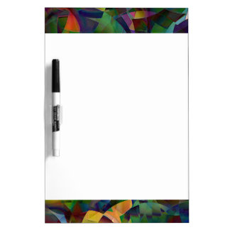 Colorful, Kaleidoscopic Abstract Art Dry Erase Board