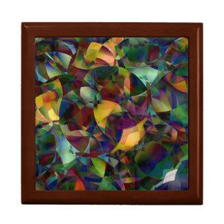 Colorful, Kaleidoscopic Abstract Art Gift Box