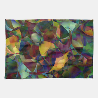 Colorful, Kaleidoscopic Abstract Art Kitchen Towel
