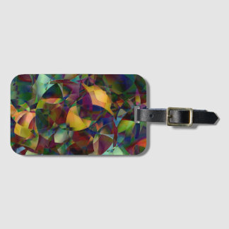 Colorful, Kaleidoscopic Abstract Art Luggage Tag