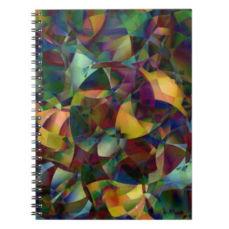 Colorful, Kaleidoscopic Abstract Art Notebooks