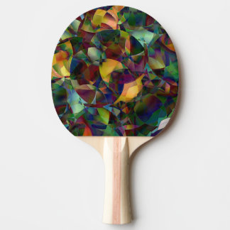 Colorful, Kaleidoscopic Abstract Art Ping Pong Paddle