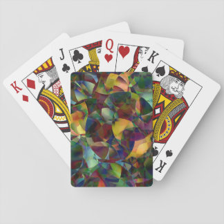 Colorful, Kaleidoscopic Abstract Art Playing Cards