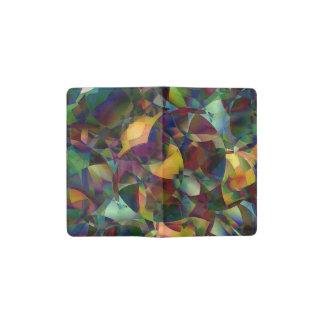 Colorful, Kaleidoscopic Abstract Art Pocket Moleskine Notebook