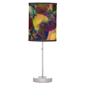 Colorful, Kaleidoscopic Abstract Art Table Lamp
