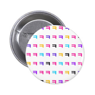 Colorful kekekeke 2 inch round button