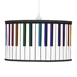 Colorful Keyboard Piano Keys 2 Music Hanging Lamp