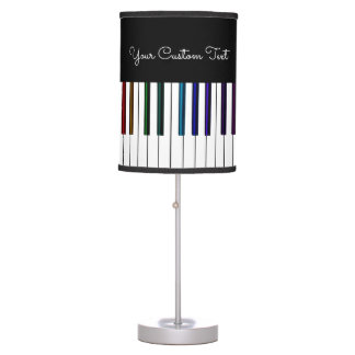 Colorful Keyboard Piano Keys Music Table Lamp