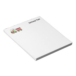 Colorful Kid;s Locomotive & Caboose Notepad