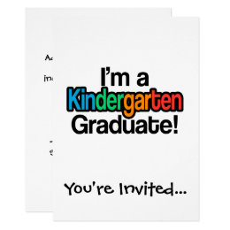 Kindergarten Graduation Invitations & Announcements