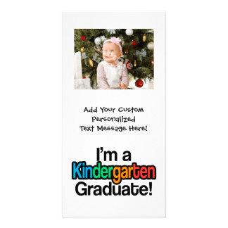Colorful Kids Graduation Kindergarten Graduate Picture Card