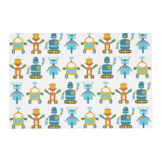 Colorful Kids Robot Laminated Placemat
