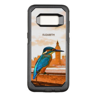 Colorful Kingfisher Bird With London Skyline OtterBox Commuter Samsung Galaxy S8 Case