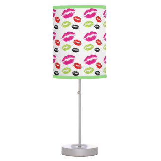 Colorful Kiss Lips Illustrated Table Lamp