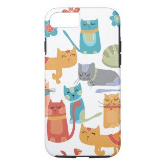 Colorful Kitty Cats Gifts for Cat Lovers iPhone 7 Case