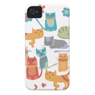 Colorful Kitty Cats Print Gifts for Cat Lovers iPhone 4 Cover