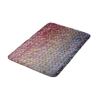 Colorful Knit Bath Mat