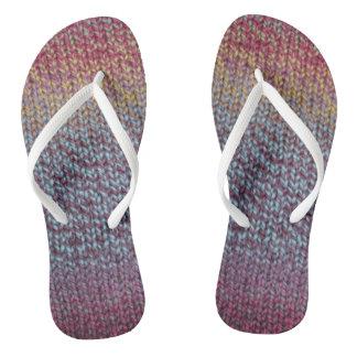 Colorful Knit Flip Flops