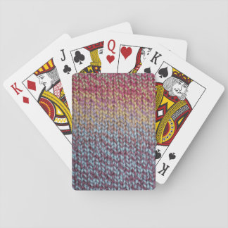 Colorful Knit Playing Cards