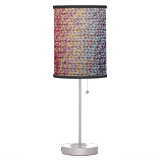 Colorful Knit Table Lamp
