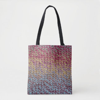 Colorful Knit Tote Bag