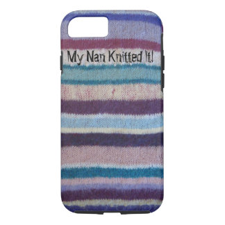colorful knitted stripes fun retro design iPhone 7 case