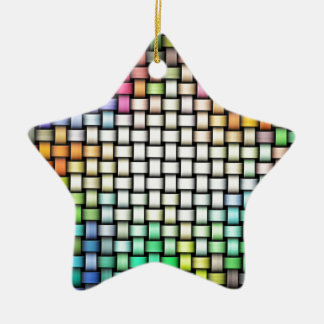 Colorful knitted texture ceramic ornament