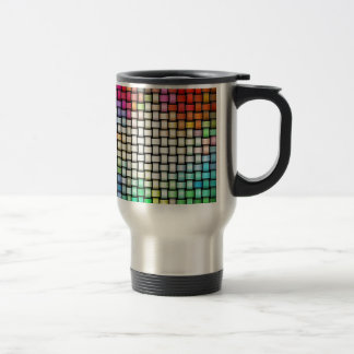 Colorful knitted texture travel mug