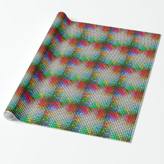 Colorful knitted texture wrapping paper